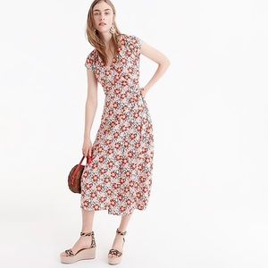 Mercantile easy wrap dress in seventies floral